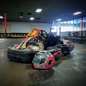houston go kart with helmet